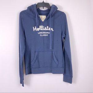 Hollister Navy hooded sweatshirt
